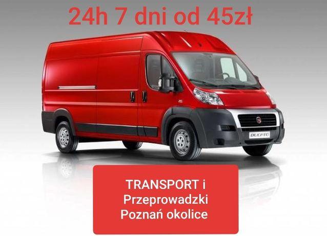 Transport i Przeprowadzki bez ukrytych Poznań Tanio już za 45zł 7 dni