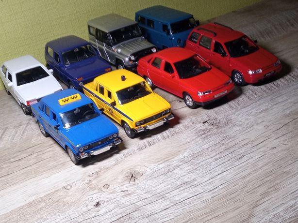 Машинки металлические модели масштабные ВАЗ УАЗ Autotime Welly 1:36