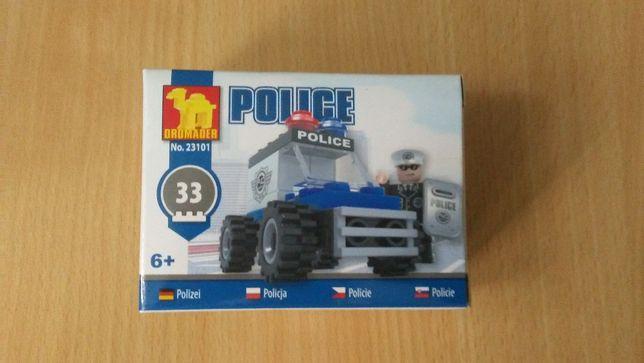 Klocki mini zestaw policja motor lub auto nowe