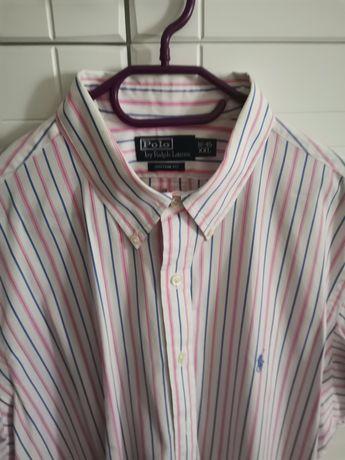 Koszula z krótkim rękawem polo Lauren idealny stan kupiona w Norwegii