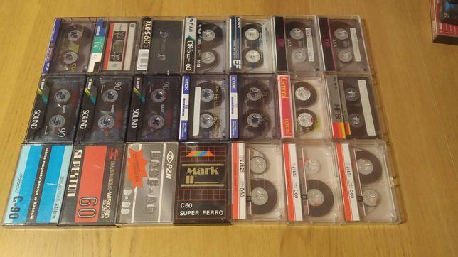 Kasety magnetofonowe 21 sztuk Tdk Basf Sony Levis Maxwell