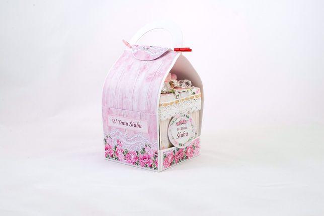 exploding box - pudełko ślubne kartka ślubna prezent pamiątka handmade