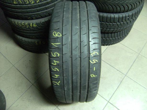 245/45/18 Pirelli P Zero / Continental ContiSportContact 3 pojedynka