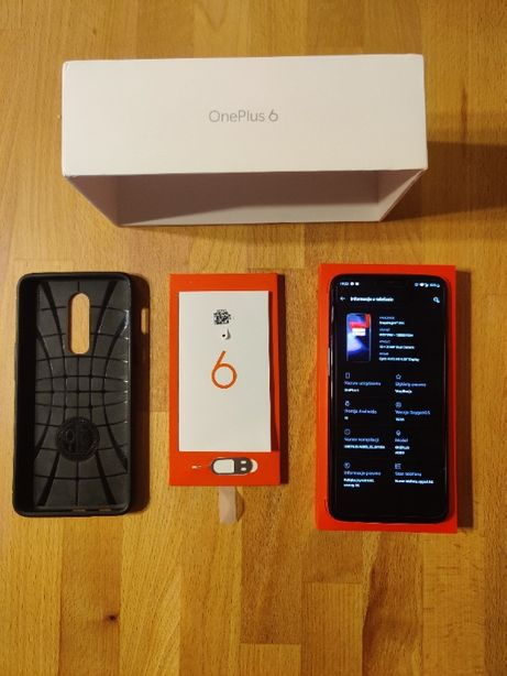 Oneplus 6 + Spigen ; 8Gb RAM ; 128Gb wewn ; Android 10 (niedługo 11)