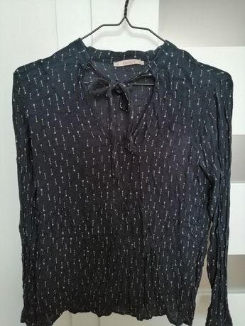Bluzka koszula Pull&Bear M granatowa