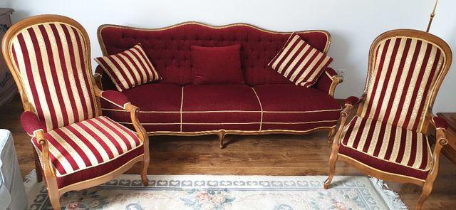 Meble - zestaw - Ludwik - sofa - fotele - zabytkowe - antyk