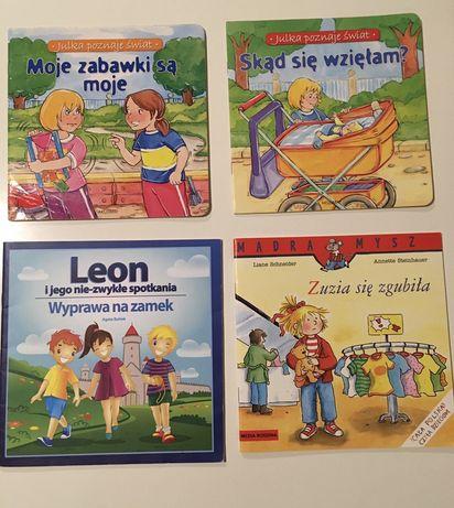 4 książeczki Skąd się wzięłam, Moje zabawki są zabawki, Zuzia się zgub