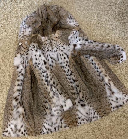 Шуба из шерсти рыси Naoum Furs