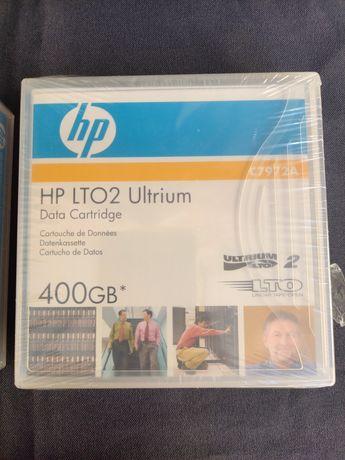 2 cartuxos de dados HPLTO2 Ultrium 400GB