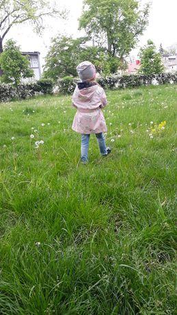 Przejściowa kurtka w kwiaty 104cm