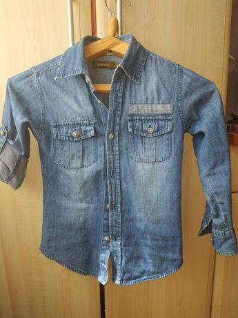 Джинсовая рубашка,в школу,116 см
