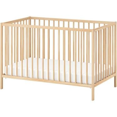 Łóżko dziecięce 60x120 buk sniglar Ikea + materac vyssa Ikea + pościel