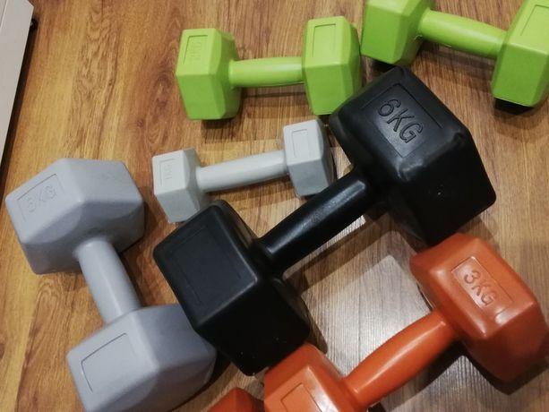 Hantle fitness, ciężarki fitness, 2*1kg komplet, fitness, siłownia