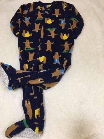 Флисовые пижамки Carter's 24м, 2Т