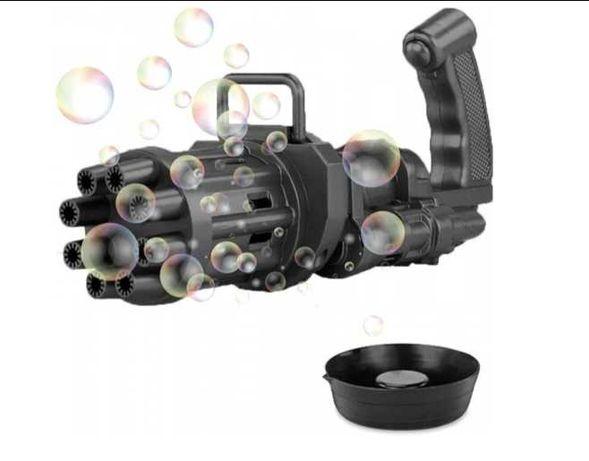 Пулимет для мыльных пузырей детский пистолет автомат генератор пузырей