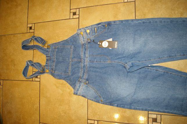 ogrodniczki jeansowe M