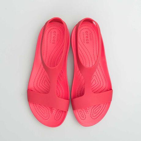 женские сандалии CROCS SERENA SANDAL W POPPY( босоножки , тапки,кроксы