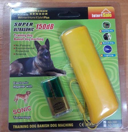 Ультразвуковой отпугиватель собак с фонариком AokemanAD-100