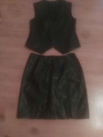 Женский кожаный костюм