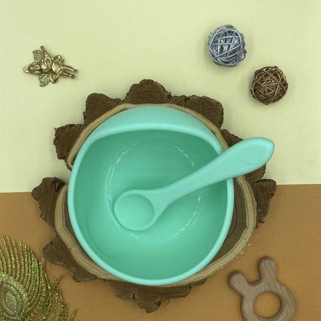 Набор посуды тарелка +ложка на присоске