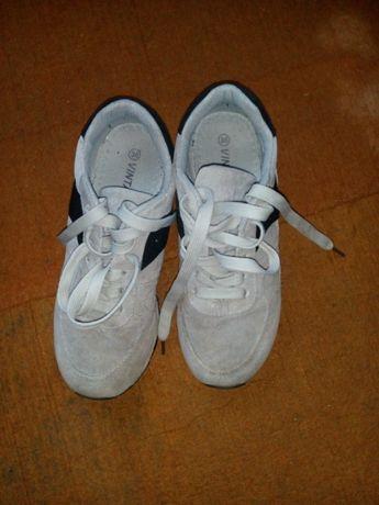 кроссовки серые р. 36