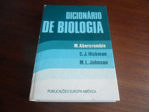 """""""Dicionário de Biologia"""" de M. Abercrombie, C. J. Hickman, E. M. L. J"""
