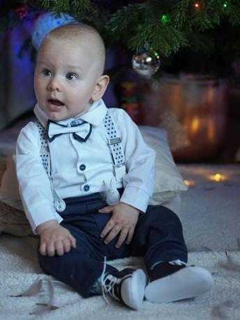 Elegancki komplet dla chłopca, ubranko do chrztu,zestaw do chrztu 74