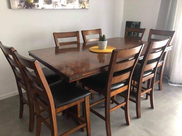 Stół Drewniany Rozkładany + 10 Krzeseł
