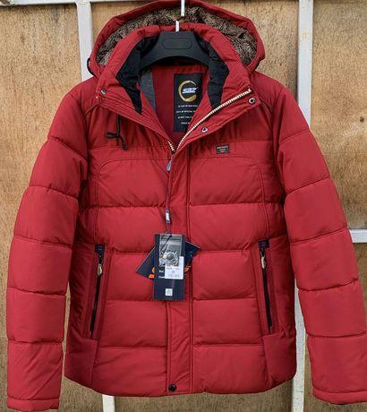 Куртка зимня червона