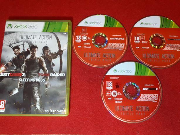 Ultimate action triple pack trzy gry na Xbox360 Białołęka