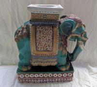 Banco Chinês Elefante Cerâmica