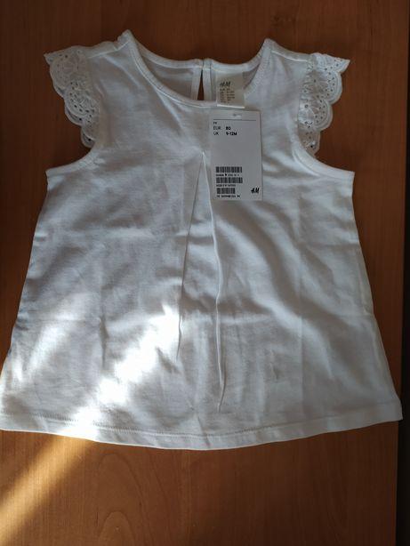 Bluzka dziewczęca bez rękawów H&M nowa