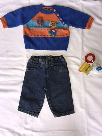 Conjunto de camisola + calças + brinquedo