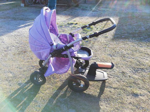Wózek,spacerówka 2w1 fioletowy