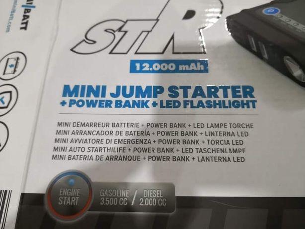 Mini Arrancador de Bateria + Power Bank 12.000mAh + Lanterna Led