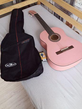 Gitara klasyczna + etui na gitarę+stroik