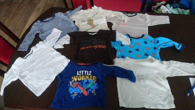 Body krótki i długi rękaw, bluzeczki,spodenki ,skarpetki 68-74,3-6 m