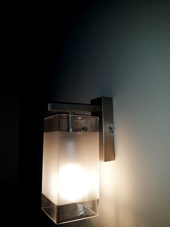 Lampa kinkiet inox szkło