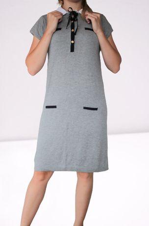 Carling szara elegancka sukienka L