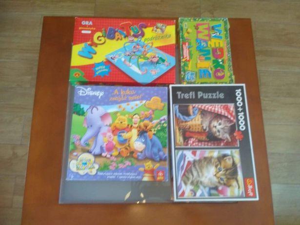 Zestaw gier planszowych i puzzli