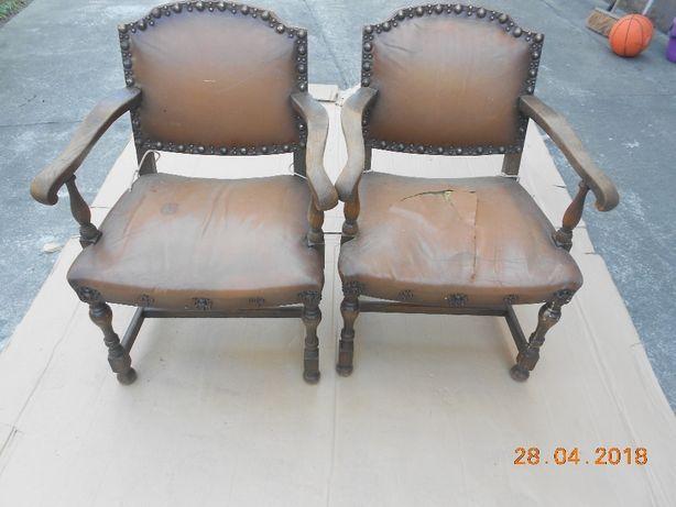 Stare fotele do renowacji 2 sztuki