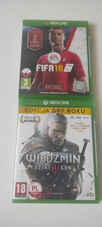 Wiedźmin 3 dziki gon + dodatki , i FIFA 18 Xbox one