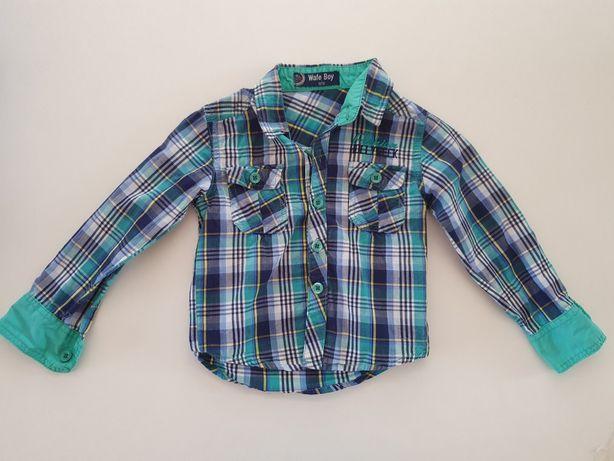 Koszula w kratkę marki Wafe Boy roz. 86