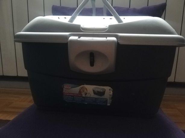 TRIXIE BOX Mini-Capri 40 × 22 × 30 cm, granatowo-srebrny + gratis