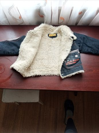 Куртка-джинсова утеплена
