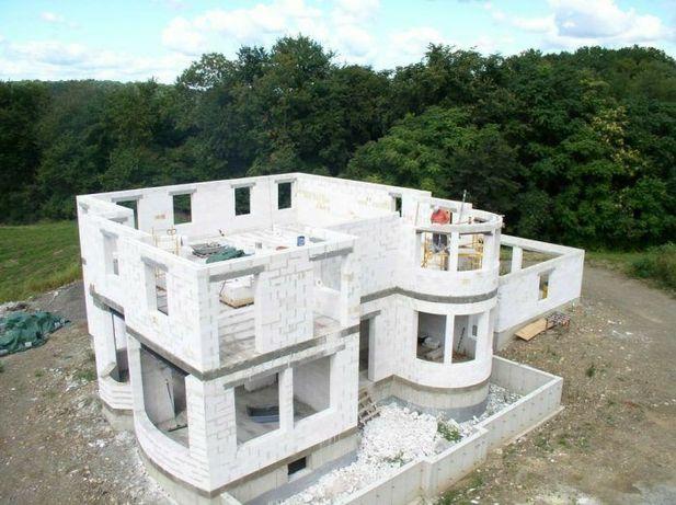 Кладка газобетона / газоблока, фундамент, заливка, бетонные работы