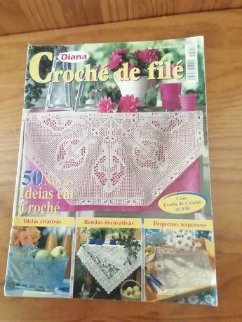 Revista Diana crochet de filé