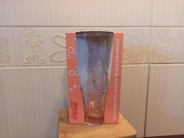 Szklanka Coca Cola z McDonald's nowa różowa pomarańczowa