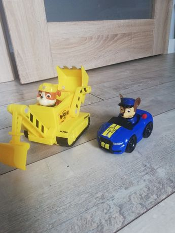 PSI PATROL koparka figurka RUBBLE +  auto CHASE