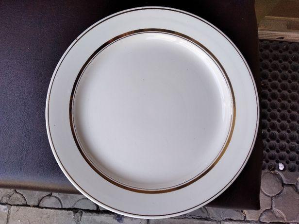 Старинное блюдо большое столовое позолота Буди СССР
